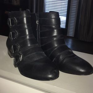 Sam Edelman Black Moto Booties Size 8